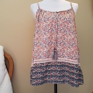 NEW Knox Rose Summer Boho Gypsy Floral Top